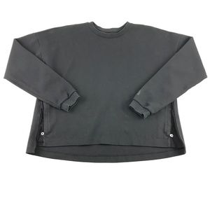 Nike Tech Black Vented Zipper  Crop Sweatshirt